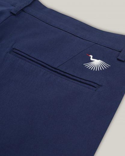 Lange Hose, dunkelblau Detail