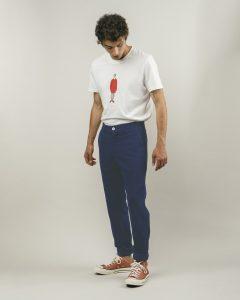 Lange Hose, dunkelblau Front