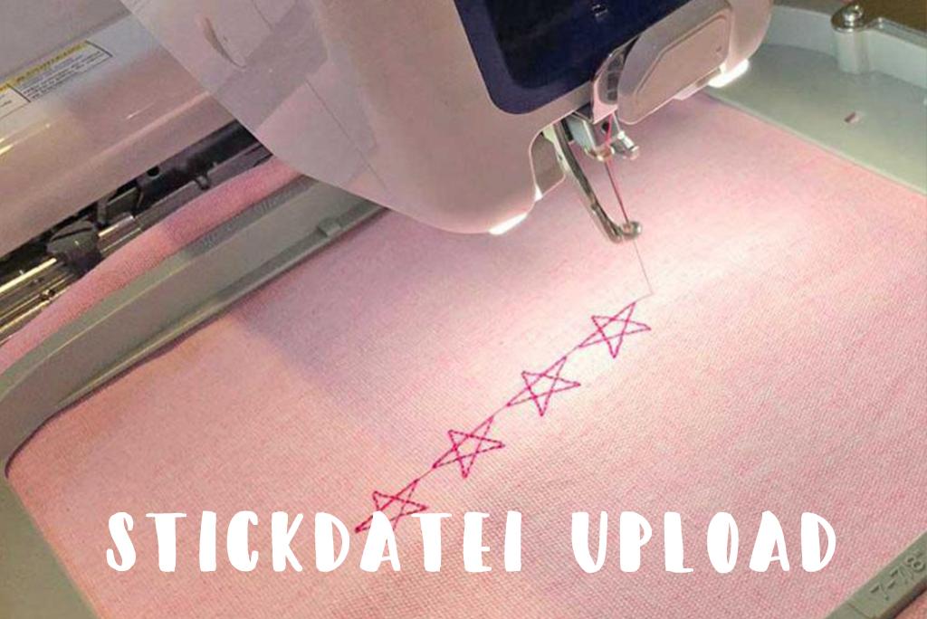 Upload deiner Stickdatei zur Veredelung deiner Textilien